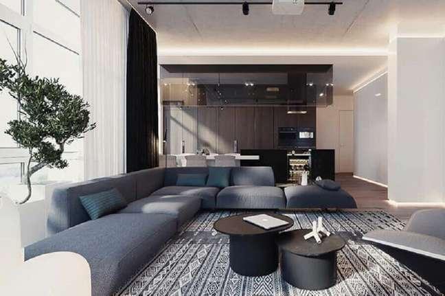52. Tipos de sofás modular para decoração moderna de sala ampla – Foto: Futurist Architecture