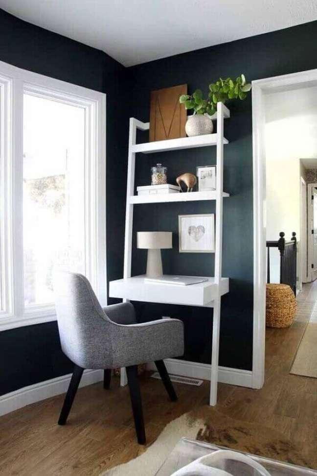 34. Modelo de escritório pequeno e moderno. Foto: Home Fashion Trend