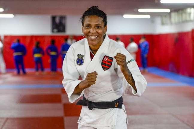 Rafaela Silva é atleta do Flamengo (Foto: Marcelo Cortes/Flamengo)