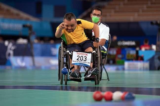 Maciel Santos em ação nos Jogos Paralímpicos de Tóquio (Foto: Fabio Chey/CPB)