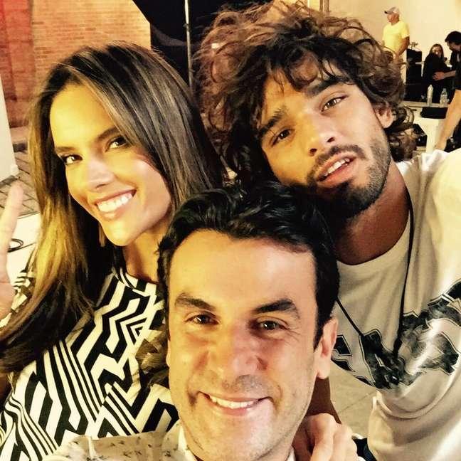 Anderson, Alessandra Ambrósio e Marlon Teixeira