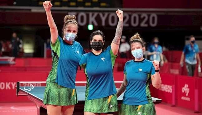 Da esquerda para a direita: Danielle Rauen, Bruna Alexandre e Jennyfer Parinos (Foto: Fábio Chey/CPB)