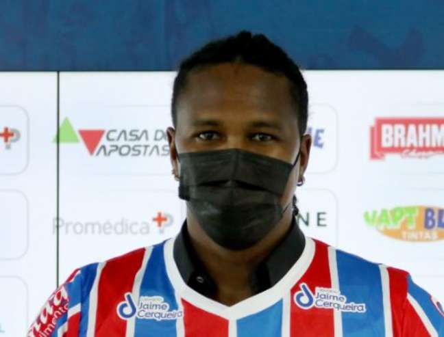 Vindo do banco, colombiano já fez quatro partidas no clube (Felipe Oliveira/Bahia)