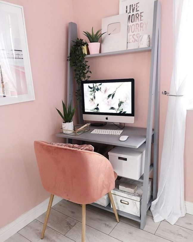 9. Modelo de escritório pequeno e versátil. Foto: Lucy Jessica