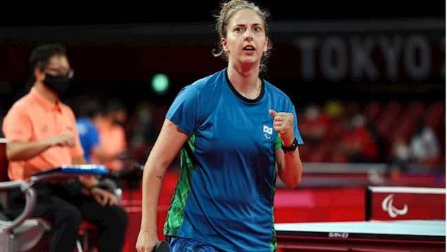 Danielle Rauen venceu o último jogo que garantiu a vitória da equipe brasileira (Foto: Takuma Matsushita/CPB)