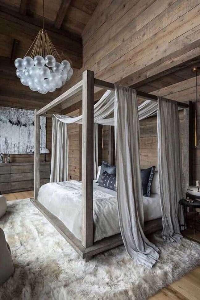 49. Dossel para camas de casal para decoração de quarto rústico – Foto: Behance
