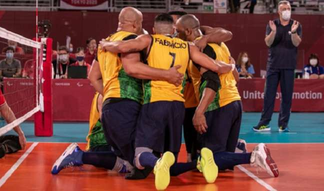 Seleção masculina de vôlei sentado buscará a medalha de bronze em Tóquio (Foto: CPB)