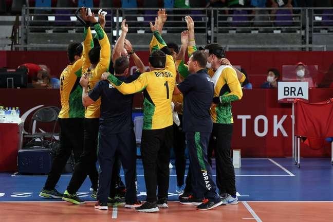 Seleção masculina de goalball buscará a inédita medalha de ouro em Tóquio (Foto: Matsui Mikihito/CPB)