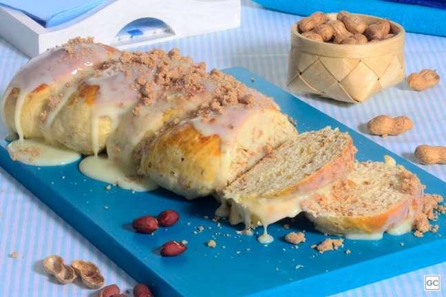 Guia da Cozinha - Pão doce de paçoca saboroso