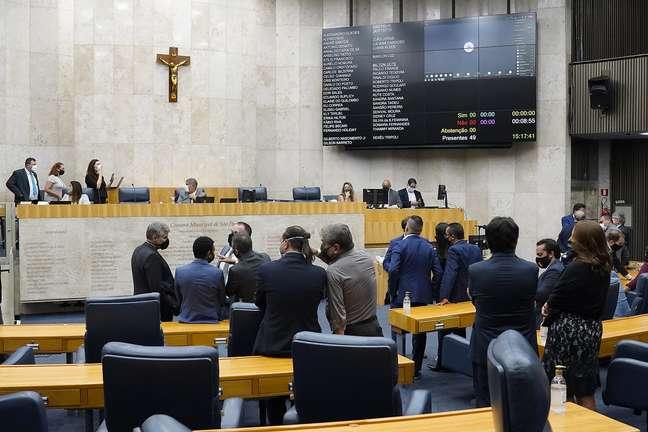 Sessão plenária da Câmara dos Vereadores de SP