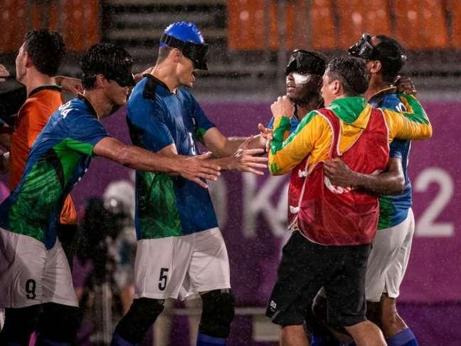 Brasil está na decisão do futebol de 5 e buscará a quinta medalha de ouro em Tóquio (Foto: Alê Cabral/CPB)