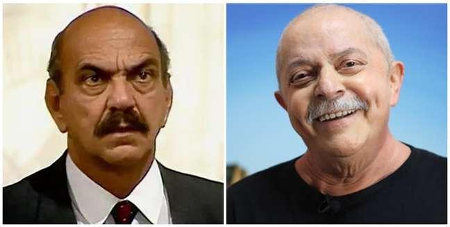 A semelhança física entre Sassá e Lula ficou maior quando o ex-presidente enfrentou um câncer