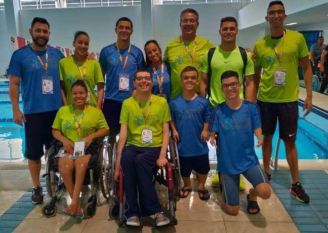 Atletas do Instituto Daniel Dias que participaram do Brasileiro paralímpico de natação