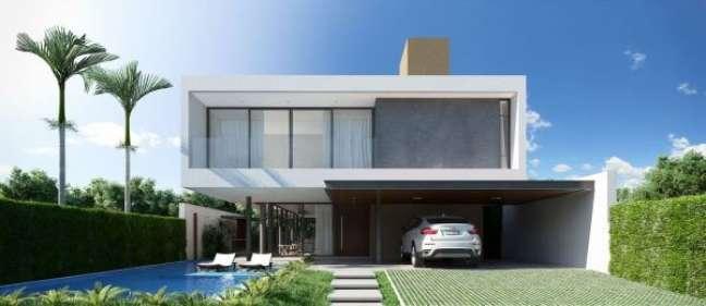 18. Casa com fachada de vidro moderna – Foto Martins Lucena Arquiteto