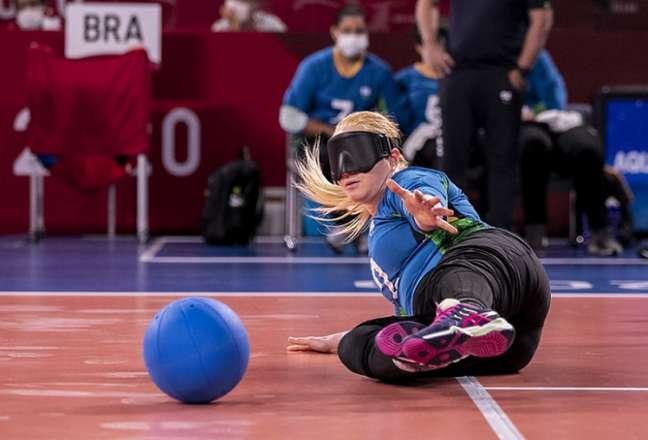 Seleção feminina de goalball acabou derrotada pelo Japão nas Paralimpíadas de Tóquio (Foto: Ale Cabral/CPB)
