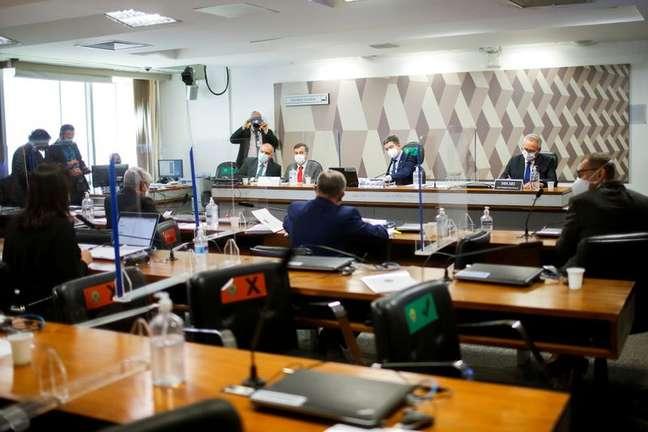 Reunião da CPI da Covid em Brasília 17/08/2021 REUTERS/Adriano Machado
