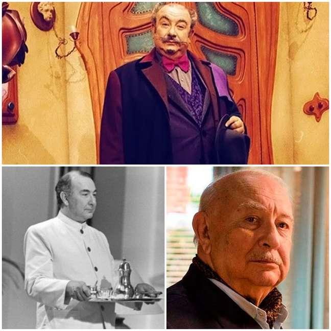 Sérgio Mamberti como Dr. Victor, Eugênio e Dionísio/Klaus: marcantes papéis na teledramaturgia