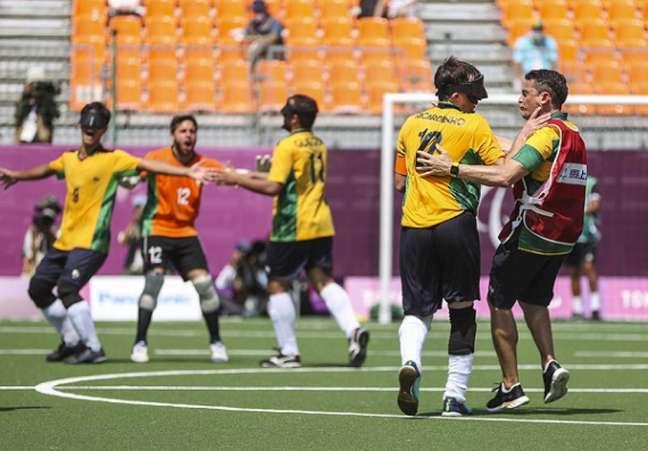 Brasil venceu a Argentina na final dos Jogos Paralímpicos de Tóquio por 1 a 0 (Foto: CPB)