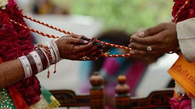 Na Índia, os casamentos são considerados sagrados