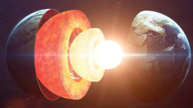 Ondas sísmicas sugerem que o núcleo de ferro sólido da Terra é assimétrico
