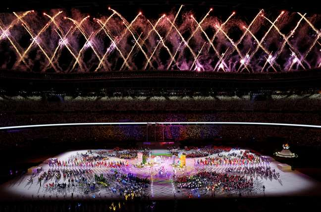 Apresentação no encerramento da Paralimpíada de Tóquio Kim Kyung-Hoon Reuters