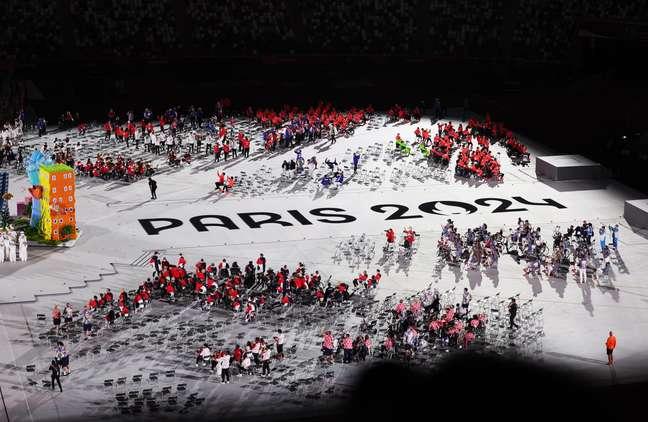 No encerramento da Paralimpíada de Tóquio, menciona Paris como a nova sede em 2024 Kim Kyung-Hoon Reuters
