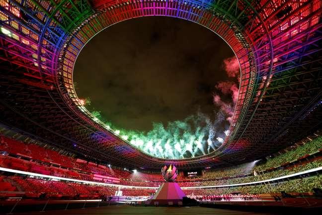 Show de cores, fogos e luzes marcou o encerramento da Paralimpíada em Tóquio neste domingo Issei Kato Reuters