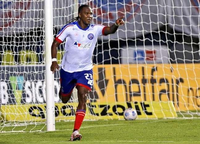 Rodallega, do Bahia, marcou 4 gols no fim de semana (Foto: Divulgação/Bahia)