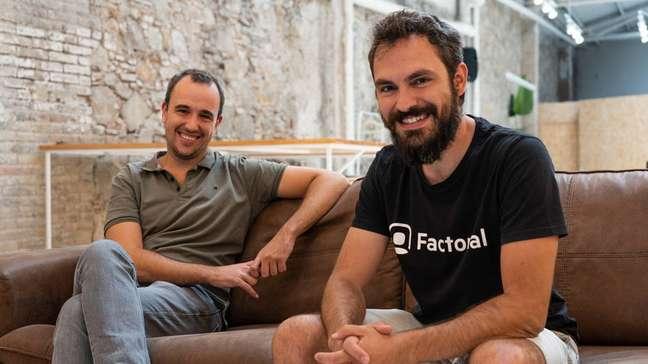 Bernat Farrero (esq.) e Jordi Romero são os fundadores da startup espanhola Factorial