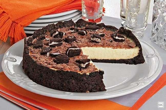 Guia da Cozinha - Torta de biscoito com creme de baunilha