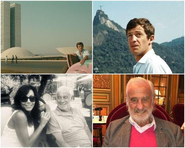 Acima, Belmondo em cenas de 'O Homem do Rio'; abaixo, com a amiga e ex-namorada brasileira Maria CarlosSottoMayor e em foto recente
