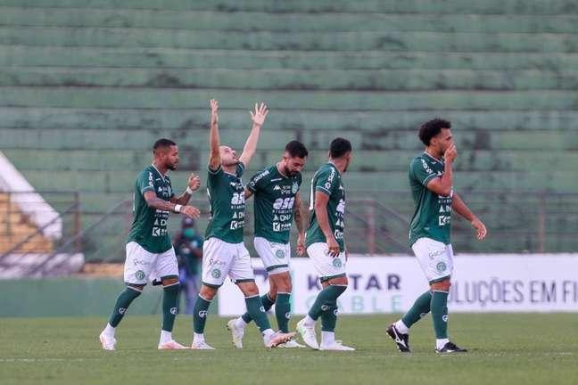 Régis marcou seu oitavo gol pelo Bugre na Série B. (Foto: Divulgação/Guarani)