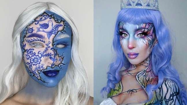 A maquiagem se torna uma ferramenta de transformação e arte