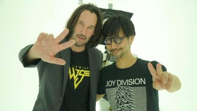 Keanu Reeves visitou a Kojima Productions em 2019
