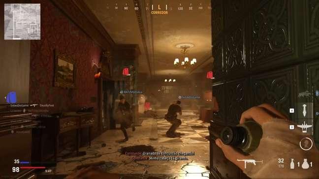 Hotel Royale fica destruído com o decorrer da partida