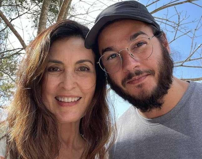 A apresentadora Fátima Bernardes e namorado Túlio Gadelha