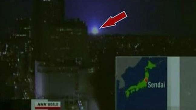 Estranhos globos de luz foram vistos após o terremoto de Fukushima | Foto: NHK