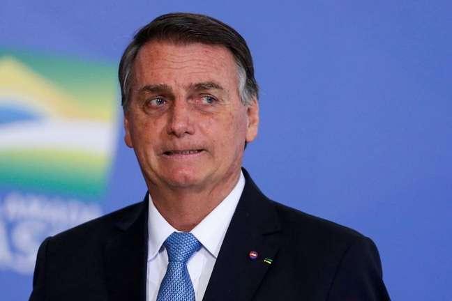 Presidente Jair Bolsonaro durante cerimônia no Palácio do Planalto 12/08/2021 REUTERS/Adriano Machado