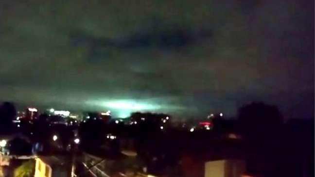 As luzes apareceram em diferentes partes do México durante o terremoto de 2017 (foto) e voltaram a aparecer agora | Foto: Twitter/@orlaherrera