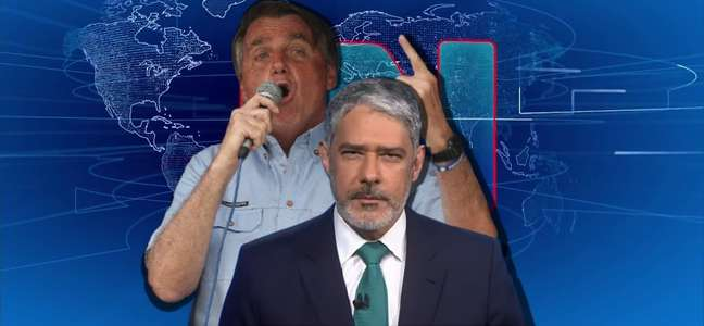 Alvo de xingamentos, Bonner foi incisivo ao desaprovar os atos pró-Bolsonaro