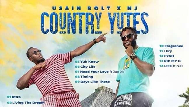 Usain Bolt lança álbum de reggae com amigo após aposentadoria das pistas