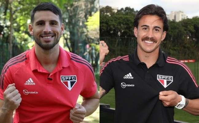 Calleri e Gabriel não têm data para estrear no time do São Paulo (Foto: Reprodução/ Twitter @SaoPauloFC)