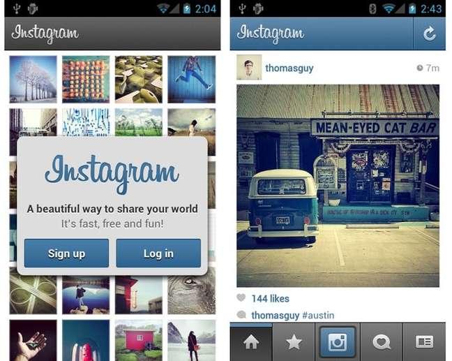 Lançamento do Instagram para Android