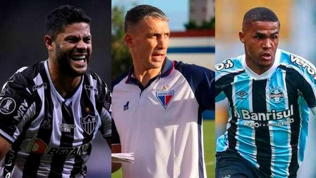 Galo e Fortaleza terminaram primeiro turno em alta; Grêmio pena na zona do rebaixamento (Montagem LANCE!)