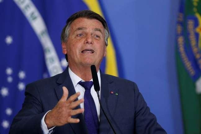 Presidente Jair Bolsonaro durante cerimônia em Brasília 02/09/2021 REUTERS/Adriano Machado
