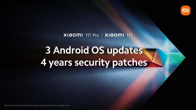 Xiaomi promete três anos de atualizações de Android para 11T e 11T Pro