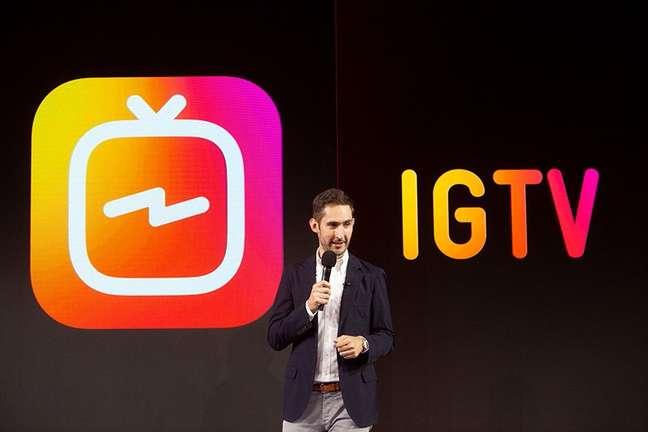 Kevin Systrom no evento de lançamento do IGTV