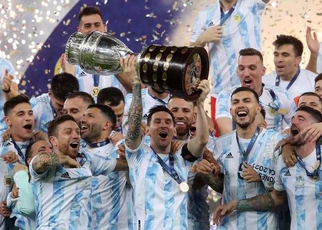 Argentina comemora título da Copa América no Maracanã Divulgação/AFA