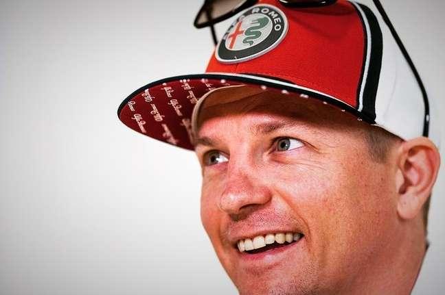 Kimi Raikkonen, da Alfa Romeo.