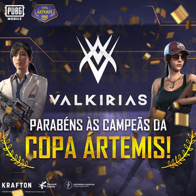Valkirias Esports levaram para casa o prêmio principal de R$ 20 mil